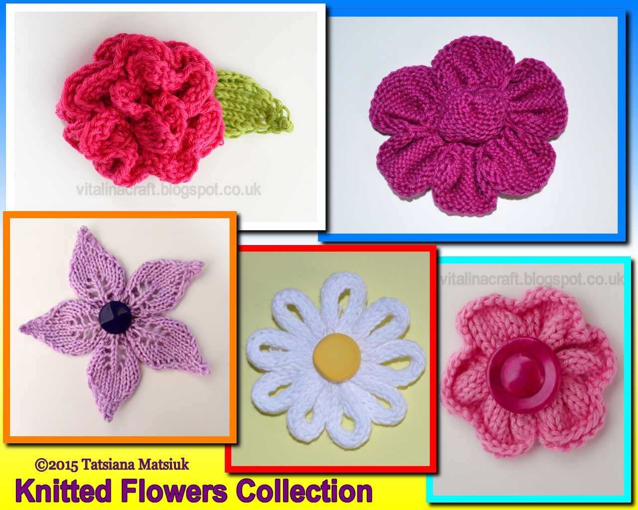 Knitted Flowers Collection | ViTalina Craft