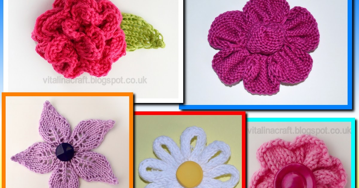 Knitted Flowers Collection Vitalina Craft