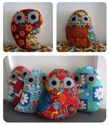 Retro owls, handmade by Ivy Arch