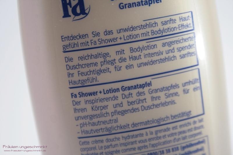 Anwendung Fa Shower + Lotion Granatapfel