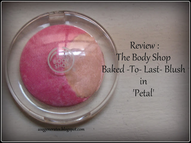 The Body Shop -Baked To Last Blush Blush- in 'Petal'