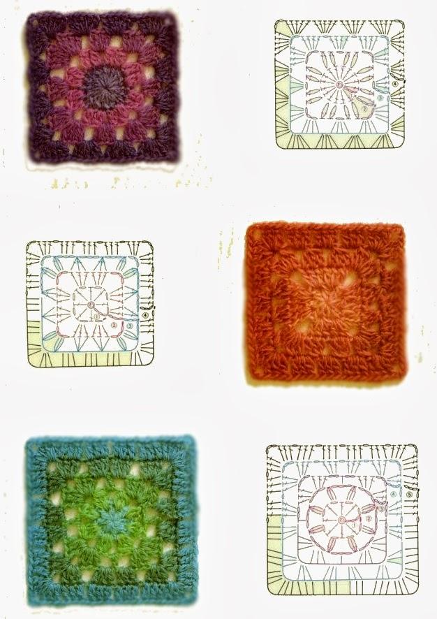 Uncinetto e crochet raccolta schemi uncinetto piastrelle for Piastrelle uncinetto filet schemi