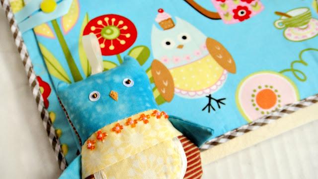 Сова игрушка и кармашки для детской комнаты - подарок малышу