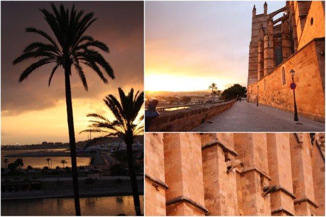 Atardecer en Palma de Mallorca junto a la Catedral