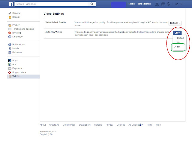 How to disable auto play videos in Facebook, Facebook, Feature, Videos, Autoplay, Auto play, Annoying, New, September 2015, Stop, Tutorial, Photos,