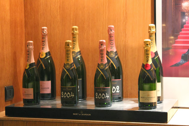 Champagne tasting at Moet & Chandon, Epernay, France