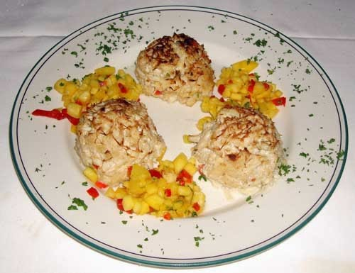 The Palm Restaurant's crab cakes