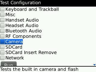 choose hardware for test coniguration
