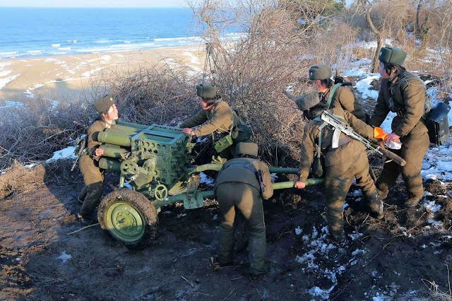 Gambar Sekitar Latihan Ketenteraan Korea Utara