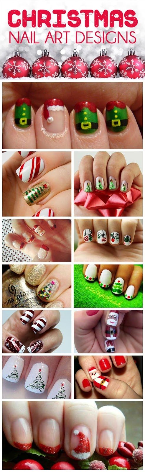Some Christmas Nail arts images for New year 2018 | Download Happy ...