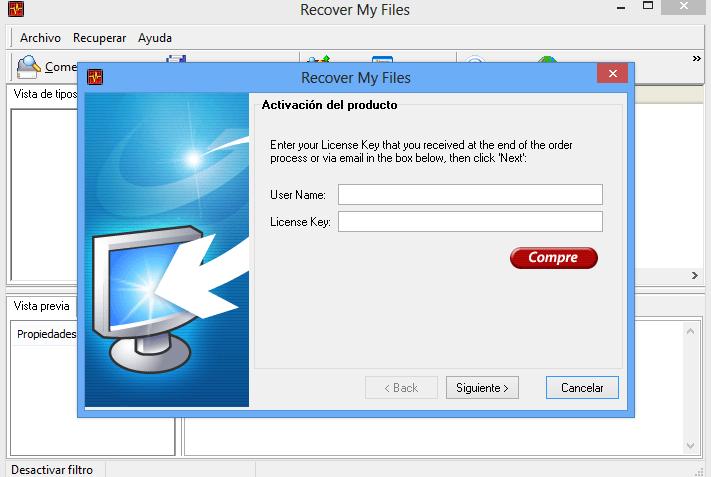 Recover My Files 3.9, recupera archivos borrados por