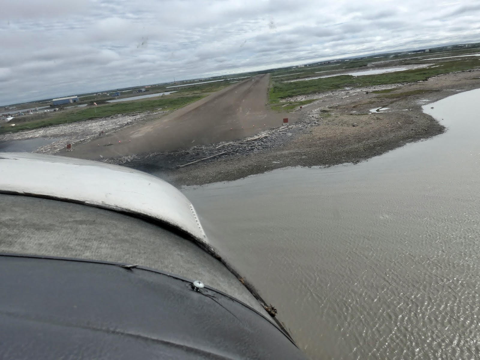 Coming in for landing in Tuk