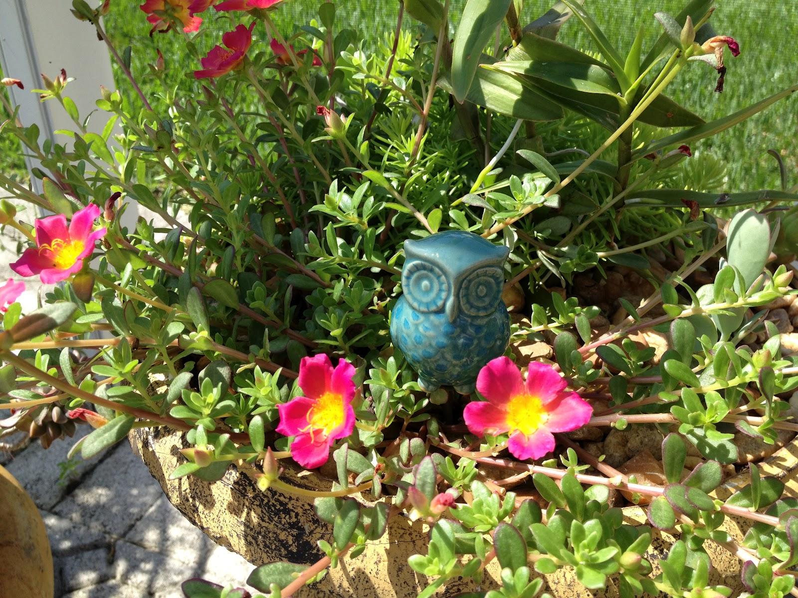 Inspire Bohemia: Decorative Owl and Mushroom Garden Planter Stakes