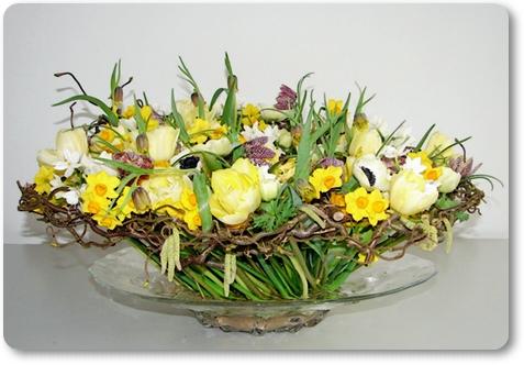blomsterdekoration vårblommor