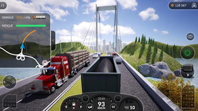 Start the engine and feel the power of huge trucks while driving through US cities and ro Truck Simulator PRO 2016 MOD Apk OBB Data