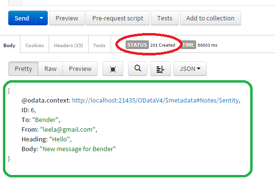 How to send an HTTP POST Request to a RESTful ODataController Web API Service using Postman   13