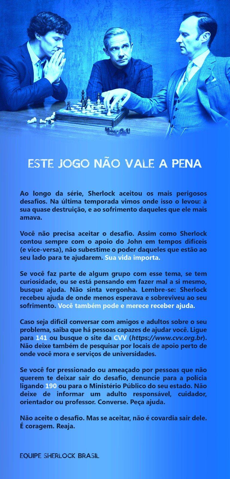 Baleia Azul é coisa séria