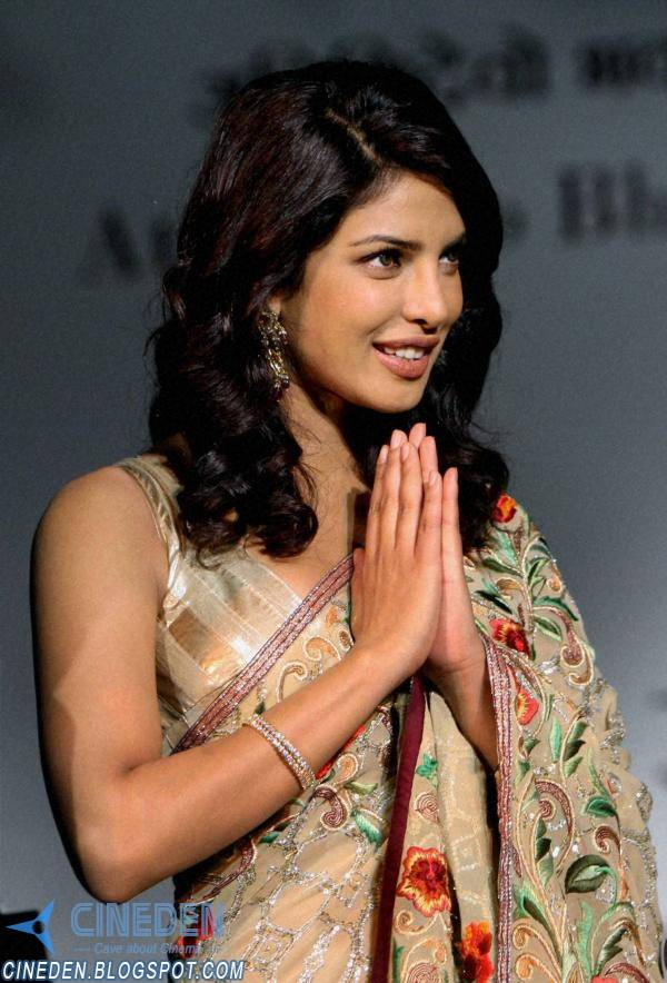 Priyanka Chopra Hot stills in Saree at National Tourism Awards 2011