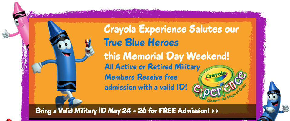 Discounts average $12 off with a Crayola Experience promo code or coupon. 16 Crayola Experience coupons now on RetailMeNot.