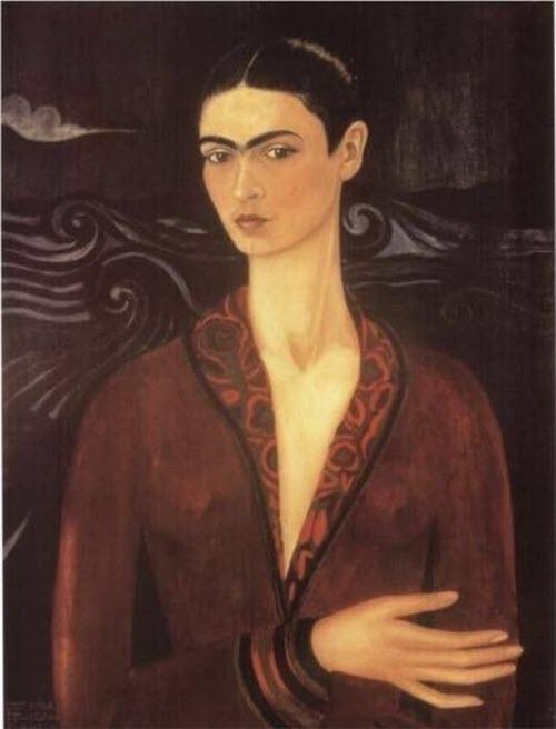 """Frida Kahlo, """"Self Portrait in a Velvet Dress,"""" 1926"""