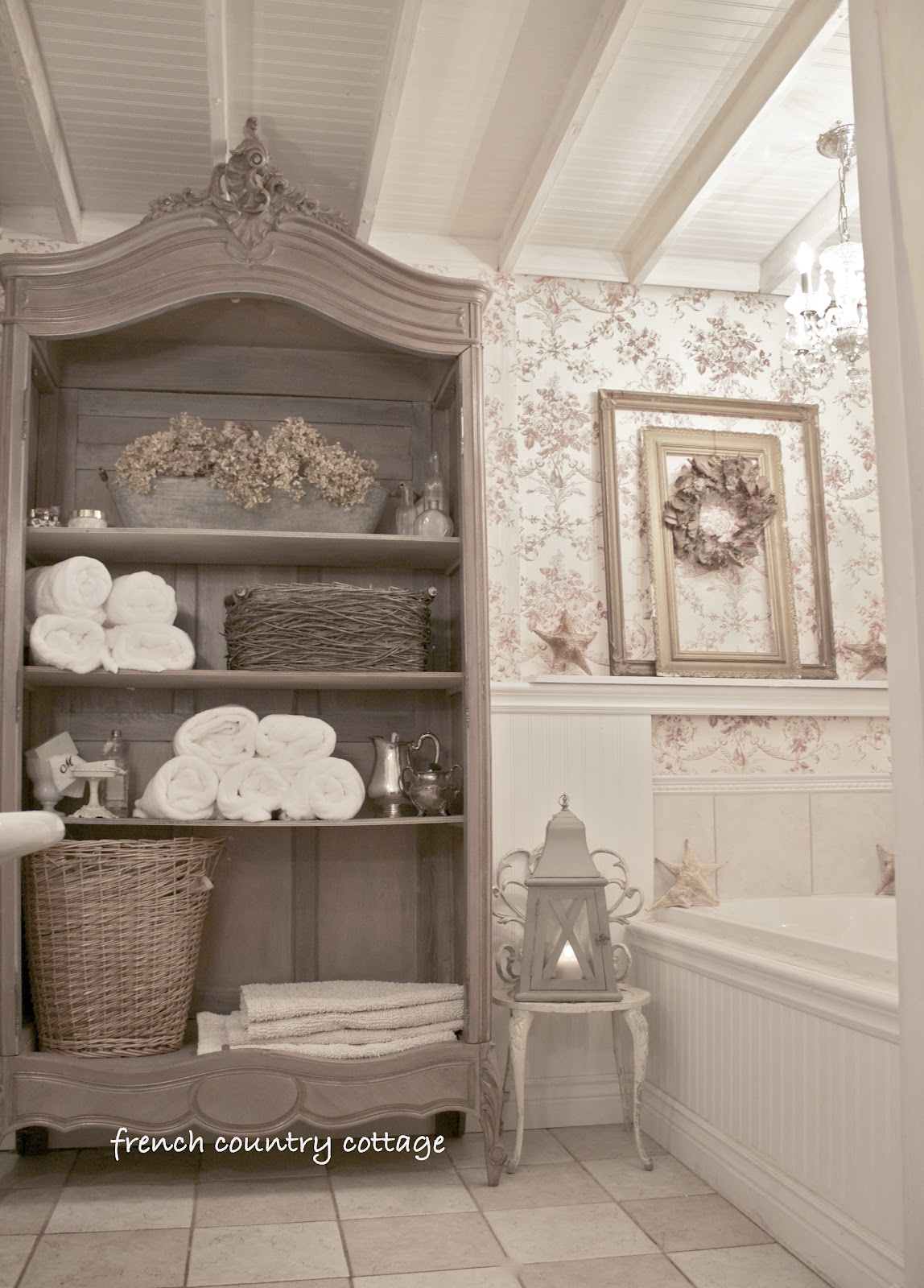Cottage bathroom inspirations french country cottage for Country bathroom ideas