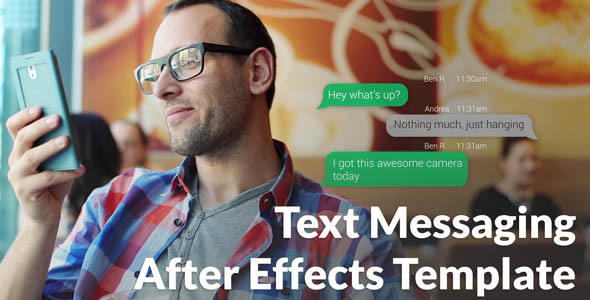 VideoHive Text Messaging with Photo and Video Options