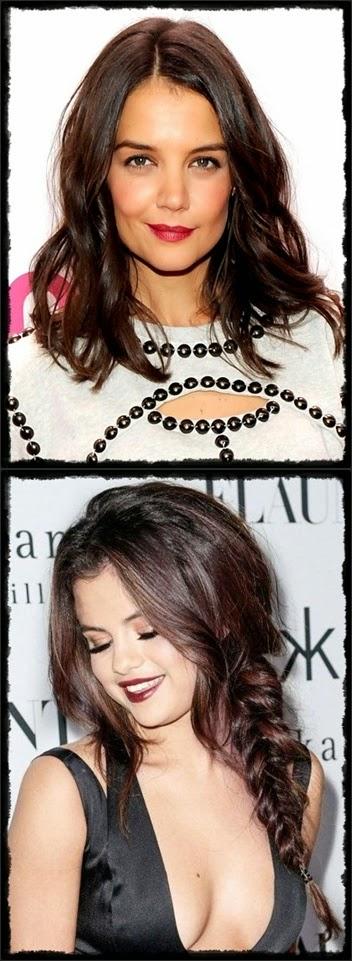 fair skin - katie holmes vert : Mahogany brown hair