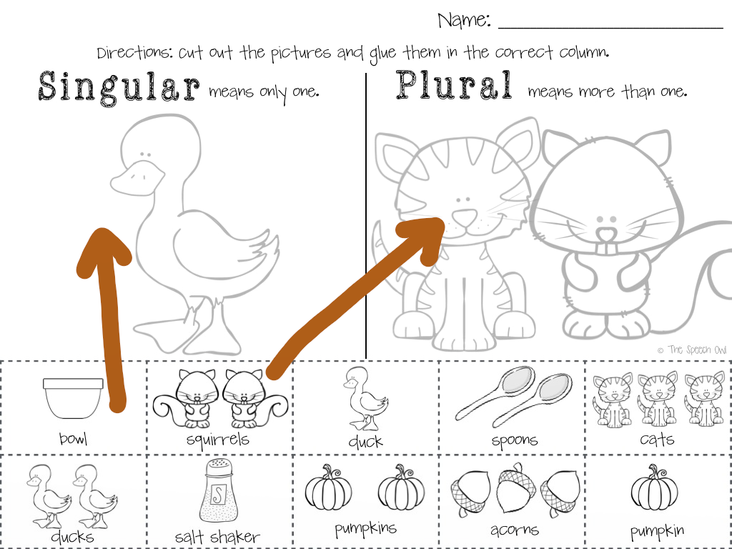 math worksheet : the speech owl pumpkin soup!!! : Singular And Plural Nouns Worksheets For Kindergarten