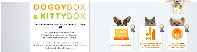 Après les box beauté...Les box animalières: La woufbox, La Doggybox ou La Kittybox ( Gagnez les 100 premières Doggy Box )