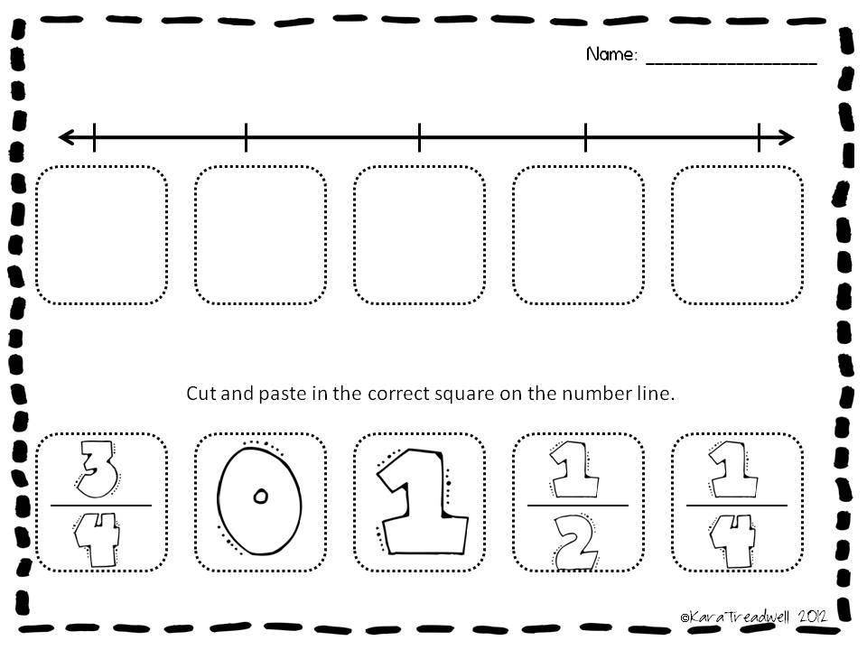 math worksheet : treadwell s teaching adventures 3rd grade activities : Number Lines Fractions Worksheets