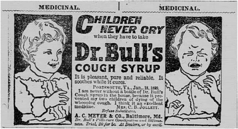 Ad with testimony by Nannie June Fogg Jollett 1899  http://jollettetc.blogspot.com