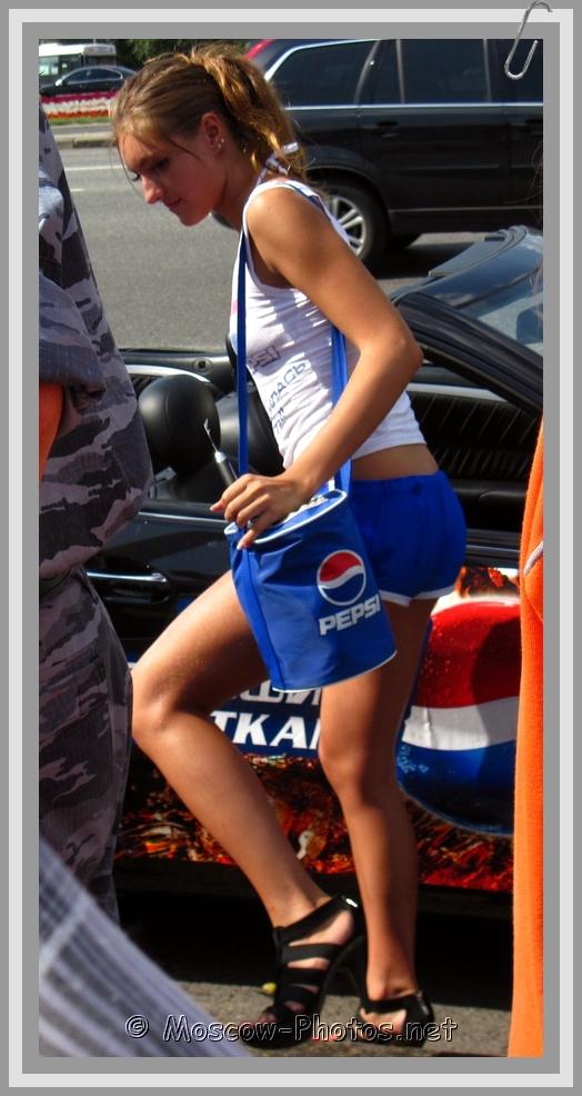 Moscow Pepsi Girl