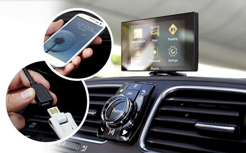 Car stereo with bluetooth phone kit parrot mki9200 12