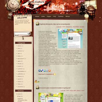Maya Culture Myth template blog from wordpress. travel blog template. template blog from wordpress. template travel for blogger