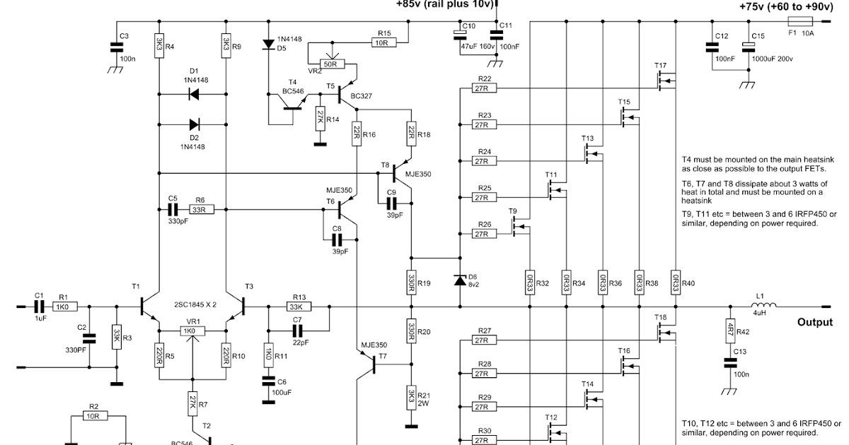 600 Watt Quasi Amplifier With Mosfet Irfp460