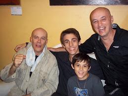 JAF con Franco, Lucas y Sergio Baldassini