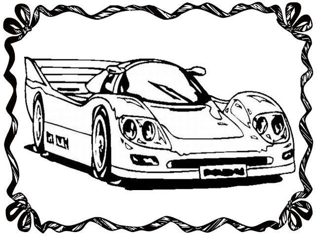 Drag Racing Car Coloring Pages