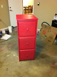 Red Wooden Cabinet **SOLD**