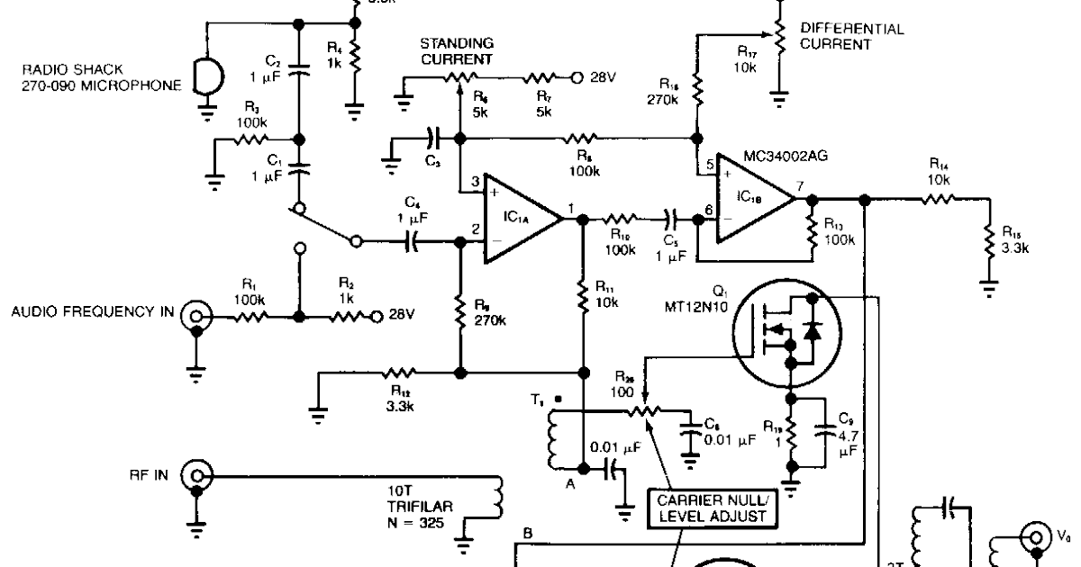 radio frequency amplifier  radio frequency modulator circuit