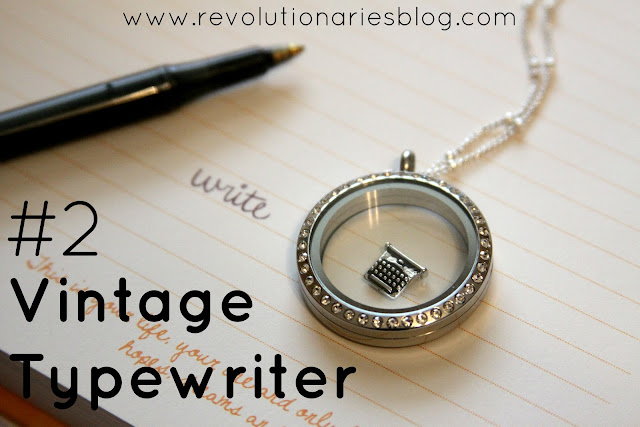 Origami Owl Living Locket Vintage Typewriter Charm