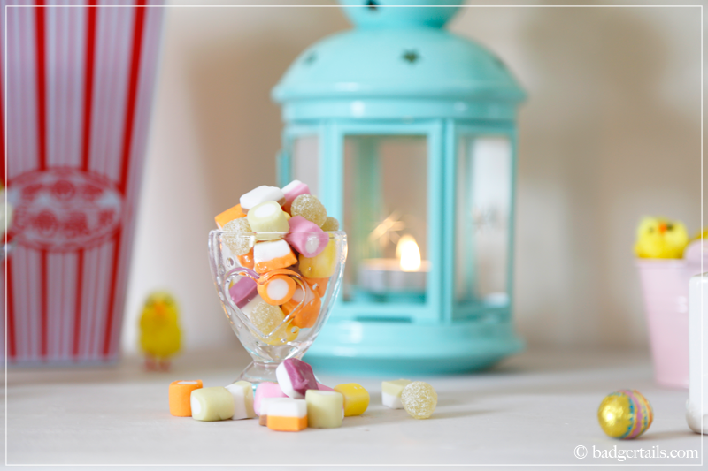 Sweet Easter Display Dolly Mixtures in Glass Egg Cup