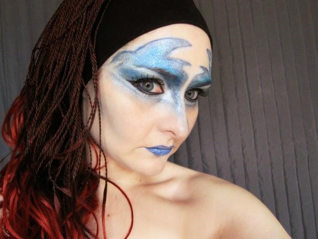 caracterización,azul,circo au soleil