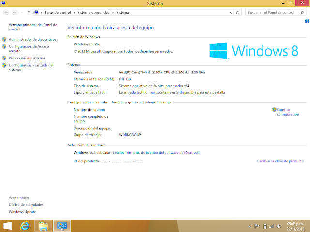Windows 8.1 Pro activado