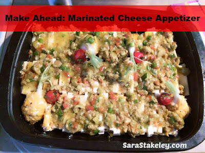 Make Ahead: Marinated Cheese Appetizer