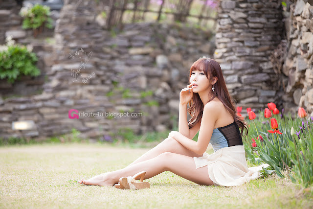 5 Cheon Bo Young Outdoor -Very cute asian girl - girlcute4u.blogspot.com
