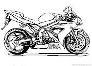 Motos para colorear motos para colorear