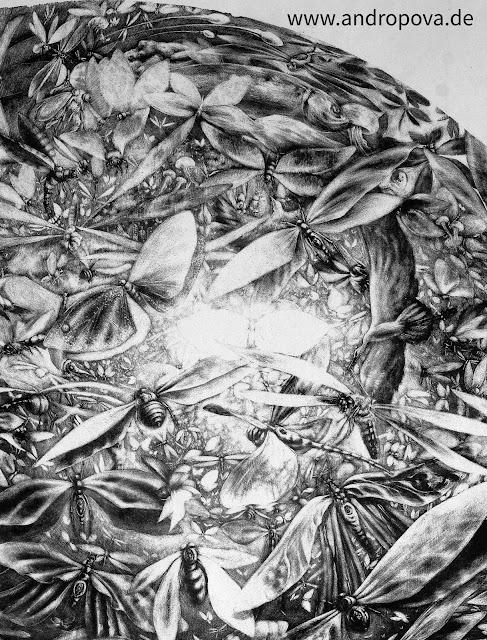 """""""Kosmogonie"""" - Ausschnitt einer Schablithografie ᛝ www.andropova.de ᛝ"""