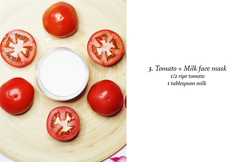 Tomato and Milk face mask