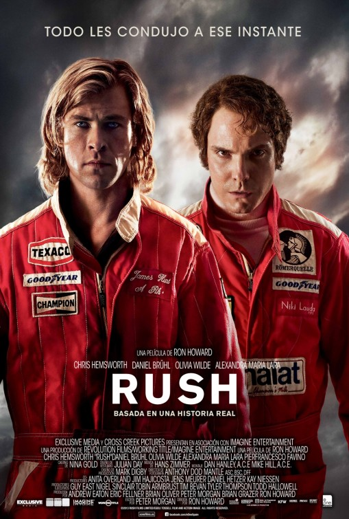 3 New posters of the Formula 1 movie Rush : Teaser Trailer