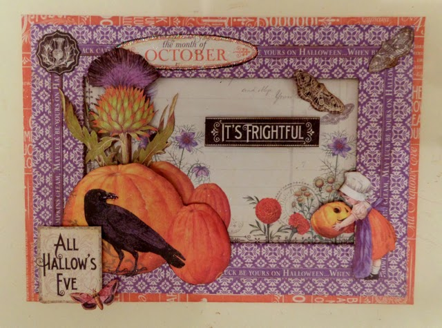 Time To Flourish Decorative Frame October Clare Charvill Jones Crafts Graphic 45